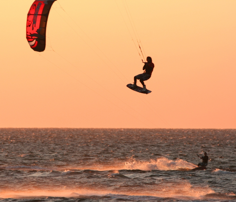 Para-surfing On The Outer Banks, Nc