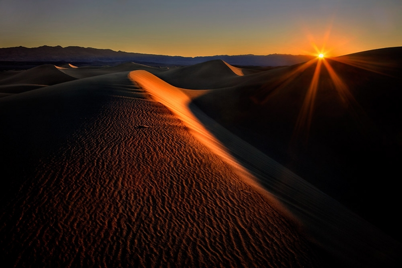 Sunrise Over The Mesquite Dunes