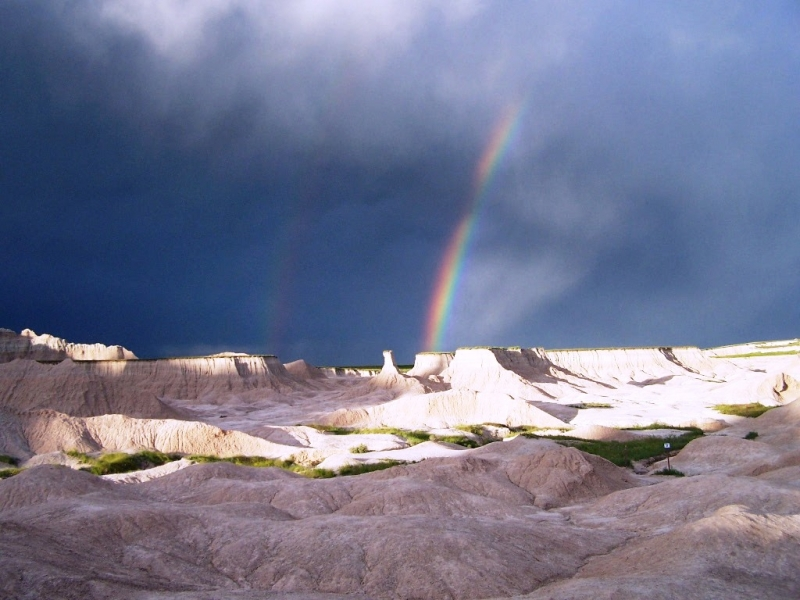 Double Rainbow In The Badlands