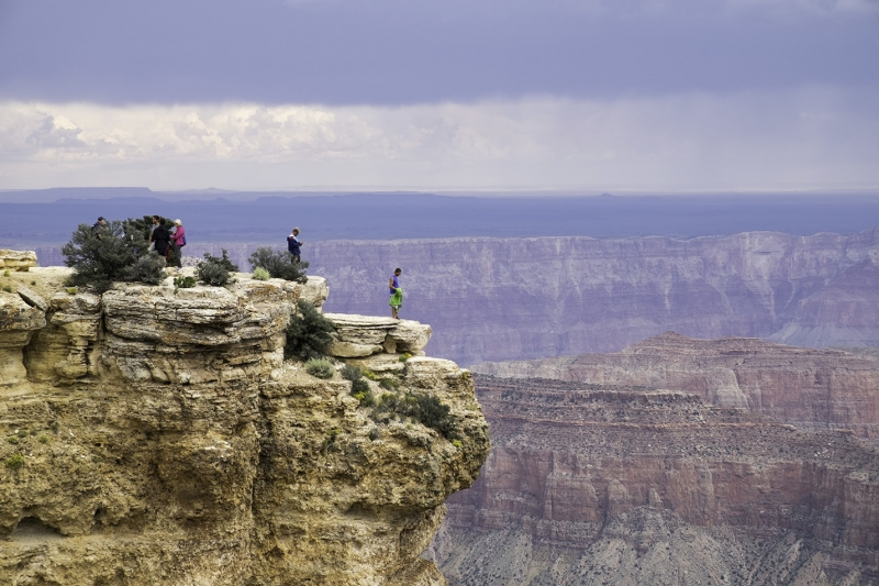 Standing On Canyon's Edge