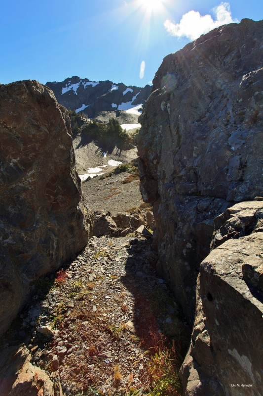 Opening Through Boulders, Upper Royal Basin