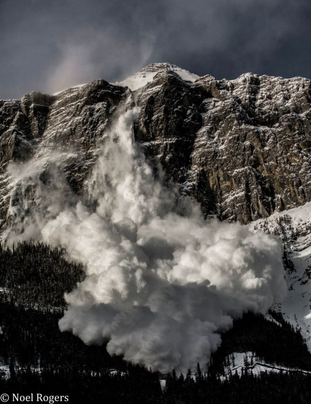 Avalanche In The Rocky Mountains