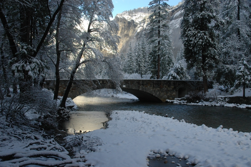 Bridge In Winter, Yosemite