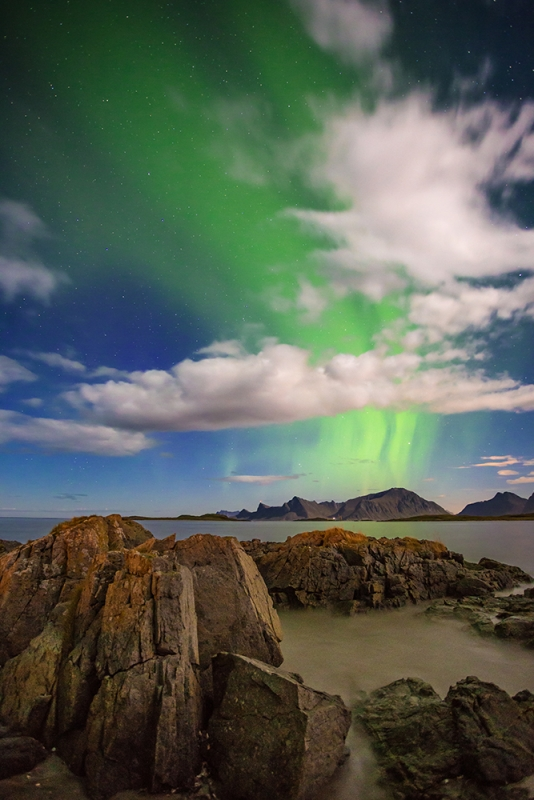 Aurora Above Yttersand Beach