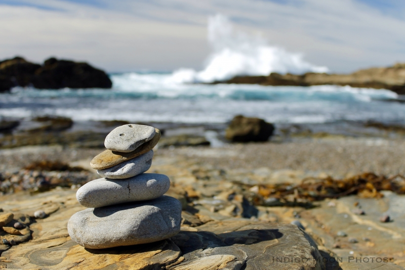 Rock Cairn Of Point Lobos