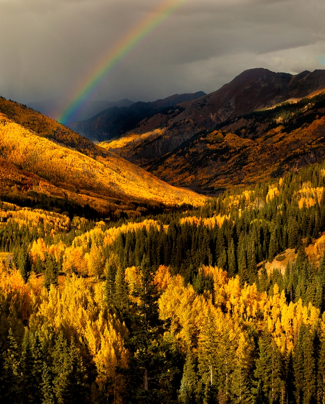 Autumn Rainbow, Red Mountain, Colorado