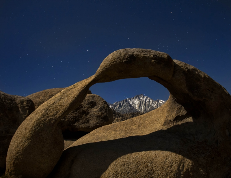 Lone Pine Peak Through The Mobius Arch