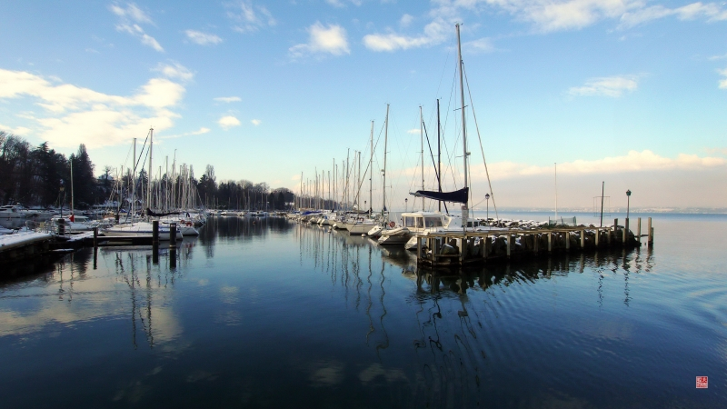 Boat Harbor On Lake Geneva