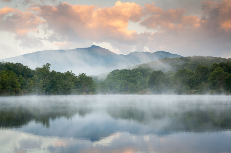 Reflective Blue Ridge Mountain Landscape Scenic