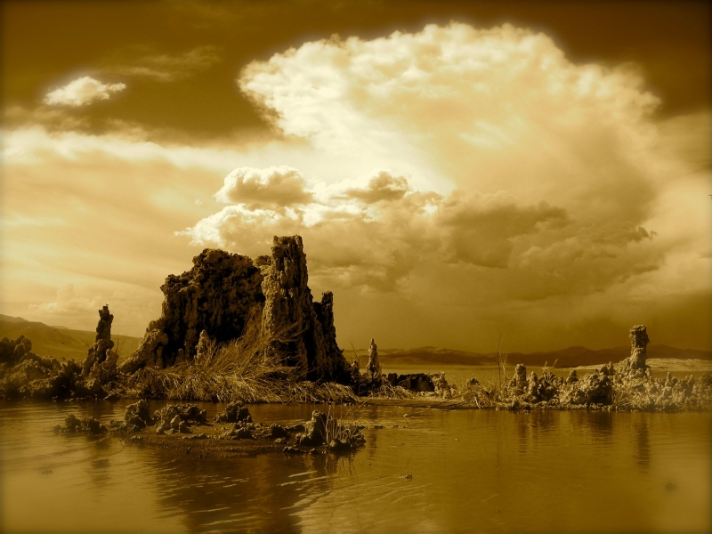 Storm Brewing Over Mono Lake