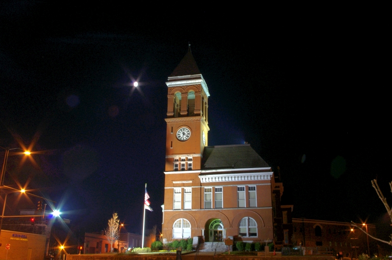 Courthouse Before Dawn
