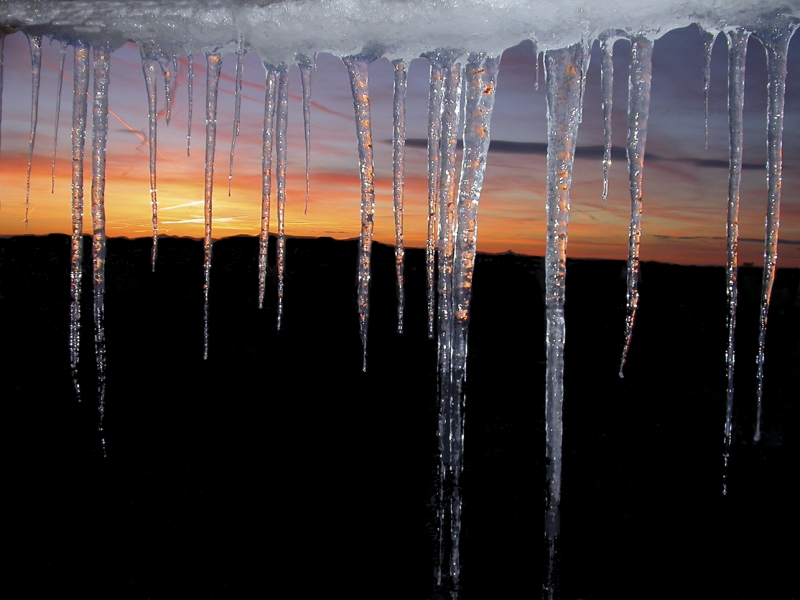 Sunset Icicles
