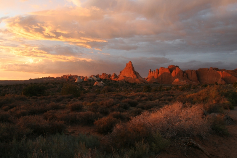 Sunset At Aches National Park