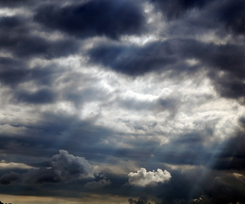 Clouds And Beams