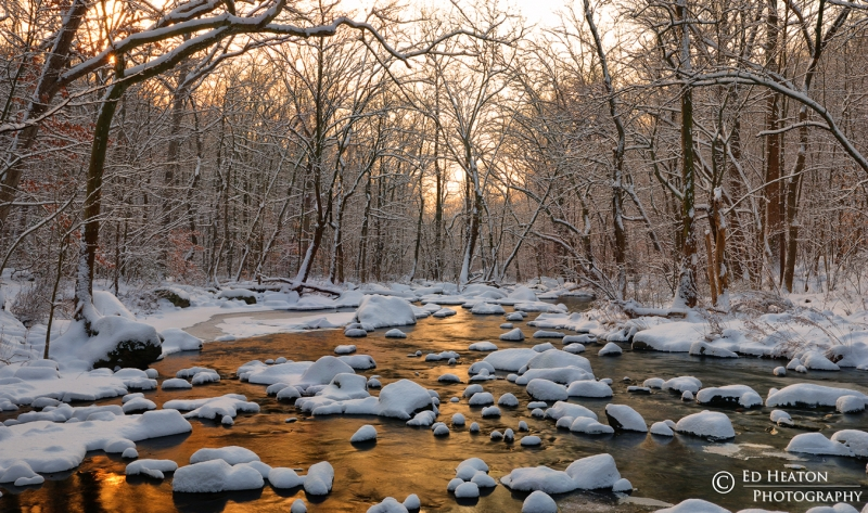 Fresh Snow On The Brandywine River
