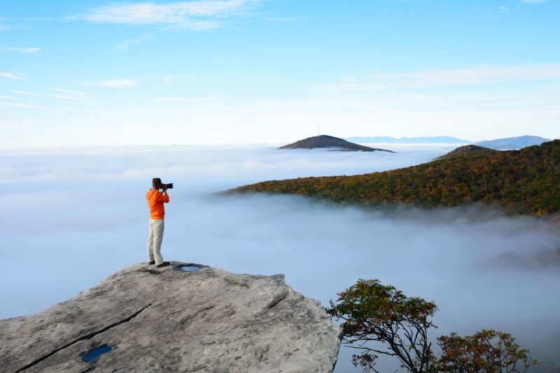 Above The Clouds On The Blue Ridge Parkway