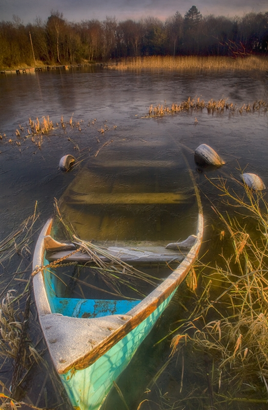 Abandoned Boat, Lough Ennell, Ireland.