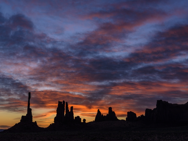 Sunrise At The Totems