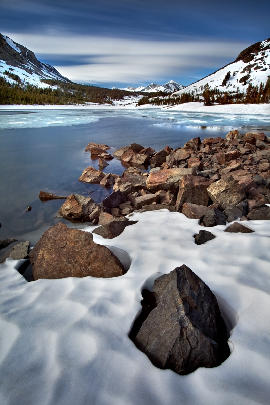 Tioga Lake And Snow