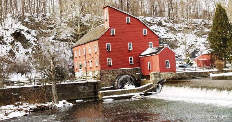 Old Mill In Clinton Nj In Winter