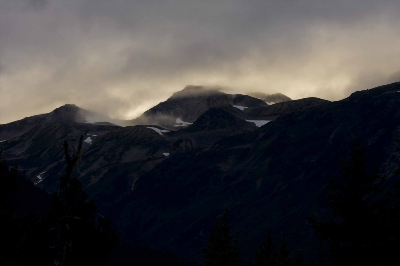 Chilkoot Range At Sunset