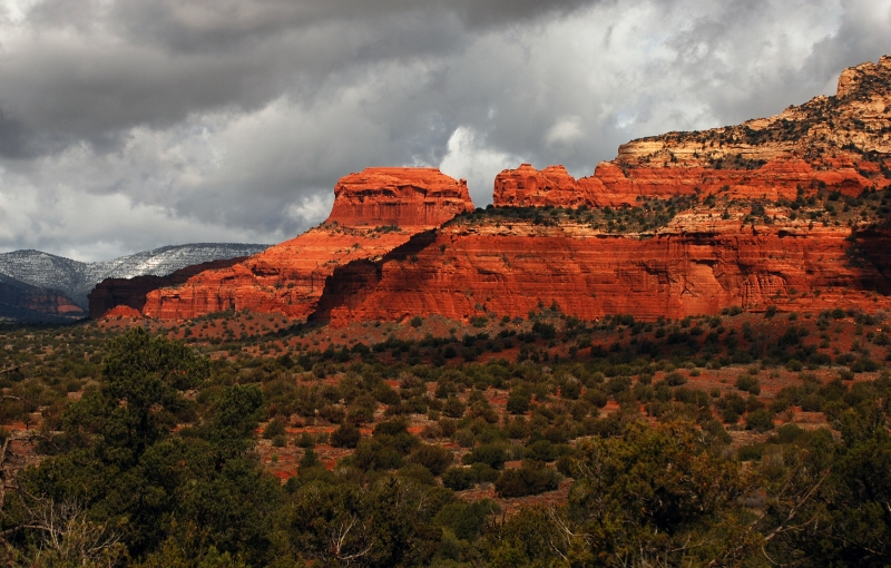 Brewing Storm Over The Sedona Redrock Formation.