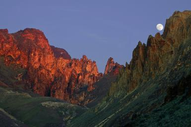 Moonrise In Leslie Gulch