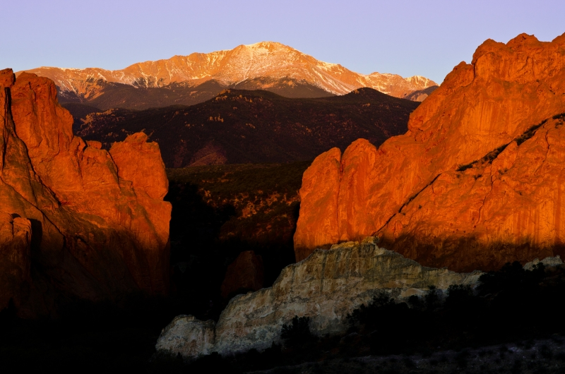 Sunrise On Pikes Peak