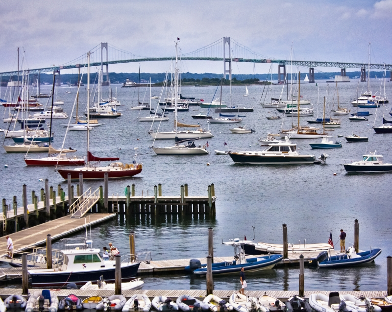 Narraganset Bay From The New York Yacht Club