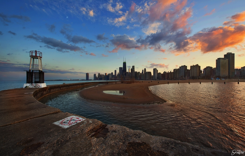 Spring Chicago Sunset