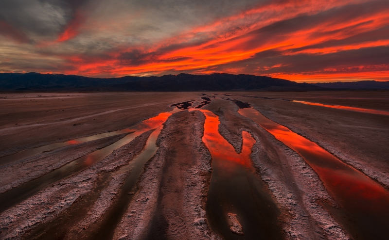 Sunset At Salt Flats