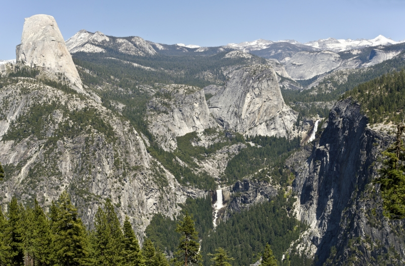Yosemite Half Dome, Vernal Amd Nevada Falls