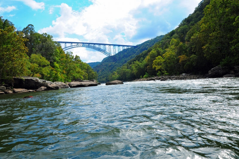 New River Gorge And Arched Bridge