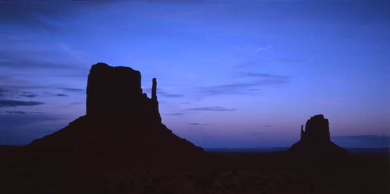 Dusk At Monument Valley