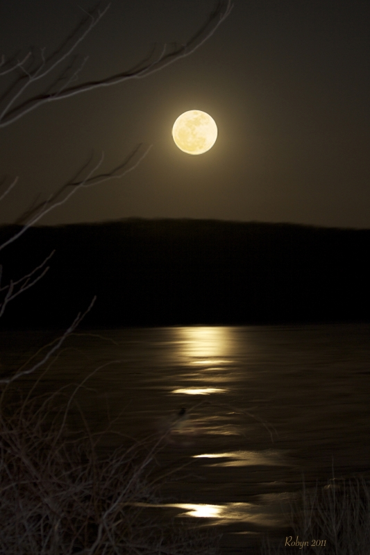 Supermoon Over Lake