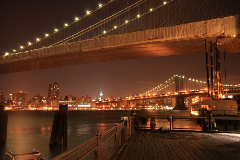 Brooklyn And Manhattan Bridge