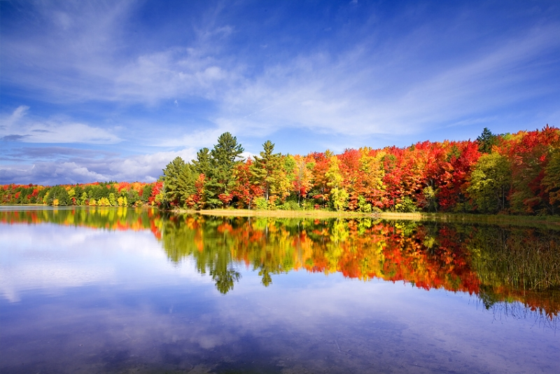 Michigan, Upper Peninsula, Lake, Fall Colors, Reflection