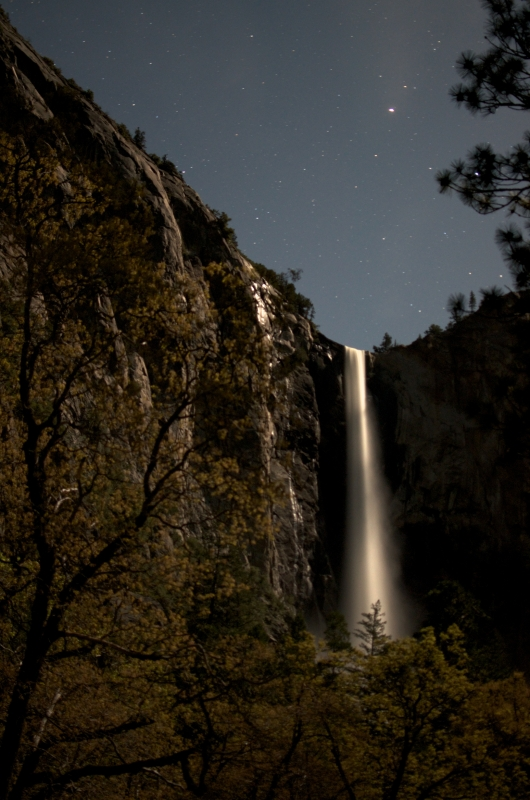 Bridal Veil Falls At Midnight