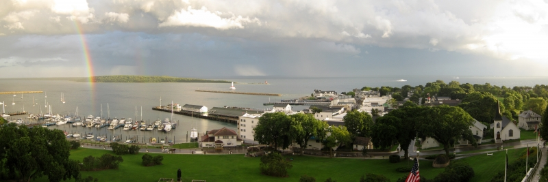 Rainbow Over Mackinac Island