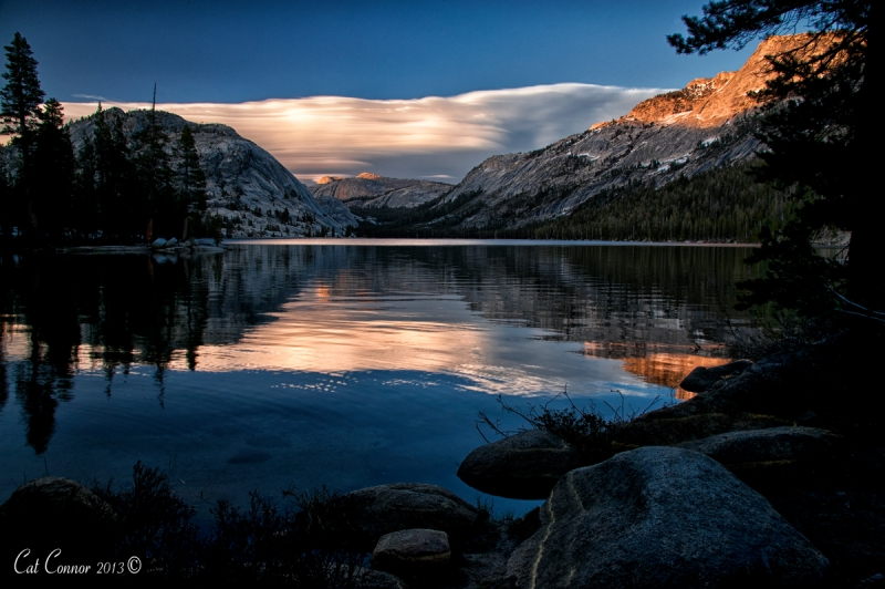 Sunset At Tenaya Lake, Yosemite Np