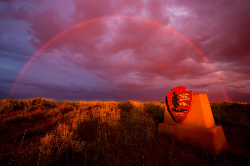 Rainbow, Petrified Forest, Arizona