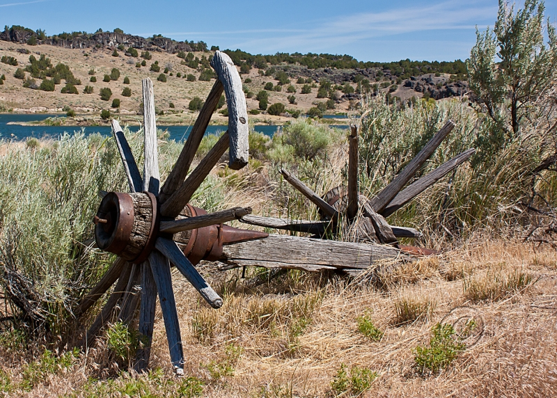 Old Wagon Trail Remnants Along Snake River