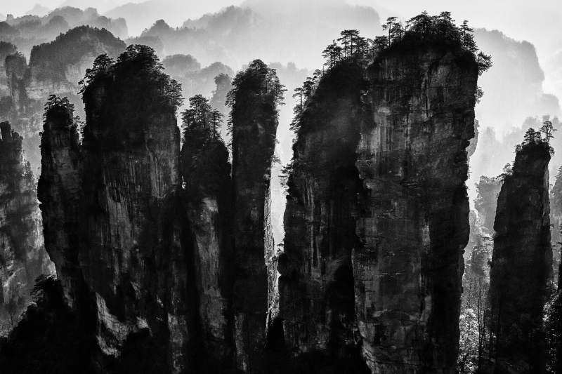 Ink Wash Painting Of Zhangjiajie