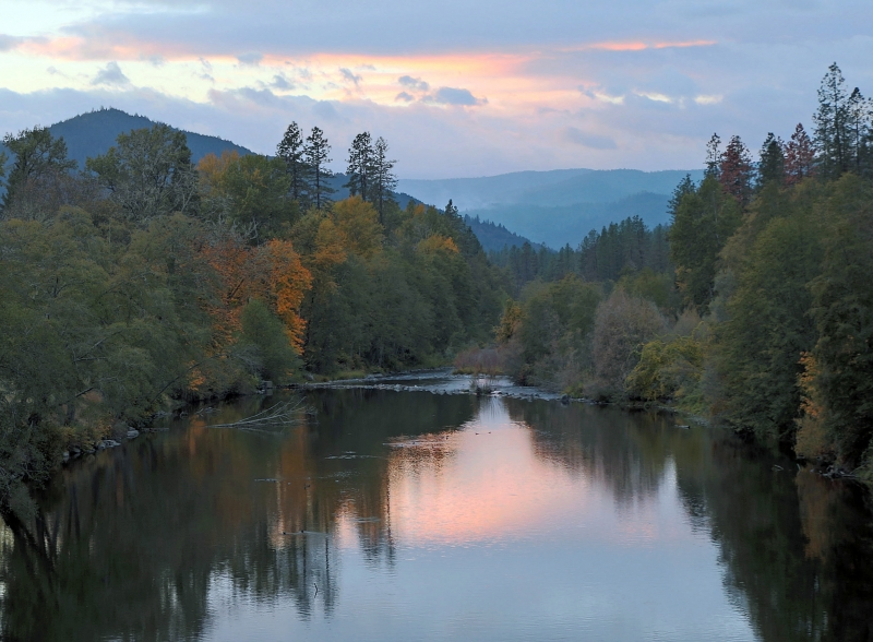 Sunset Over The Applegate River