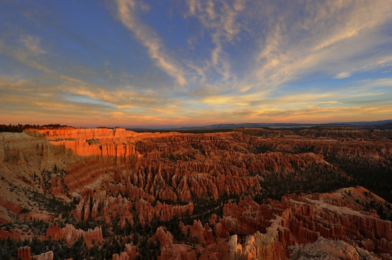 Sunrise Light At Bryce Canyon