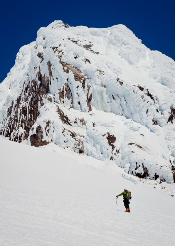 Back-country Skiing On Mt. Hood, Or