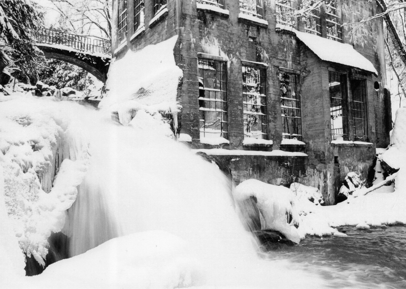 Winter Falls At The Old Mill