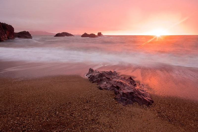 Sunset At Llanddwyn Island, Wales, Uk