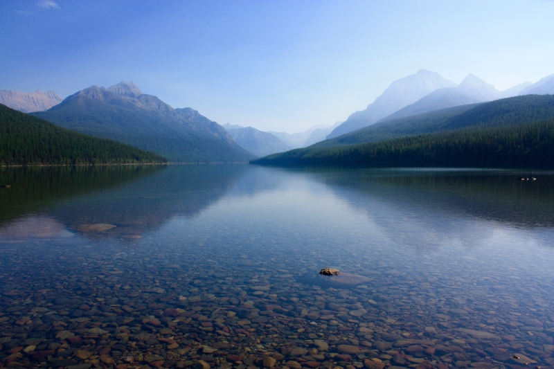 Bowman Lake-glacier National Park
