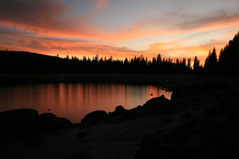 Autumn Sunset Over Pinecrest Lake